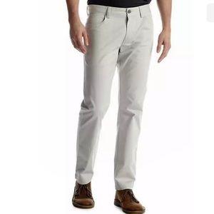 Calvin Klein Men's Modern Chino Khaki Pant - Flex Movement Fabric